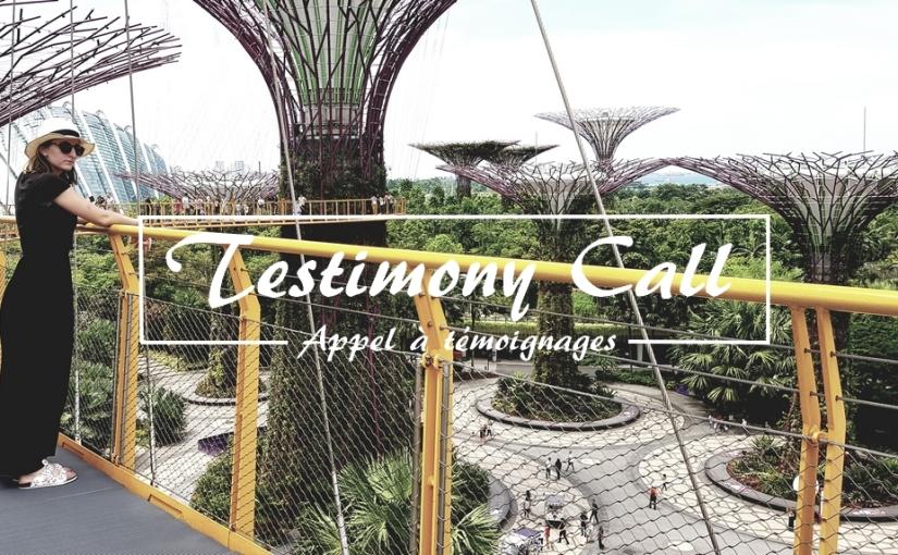 Testimony Call | Appel àtémoignages